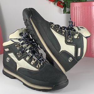 Timberland Blue/White Euro Hiker Boots/Booties 6M